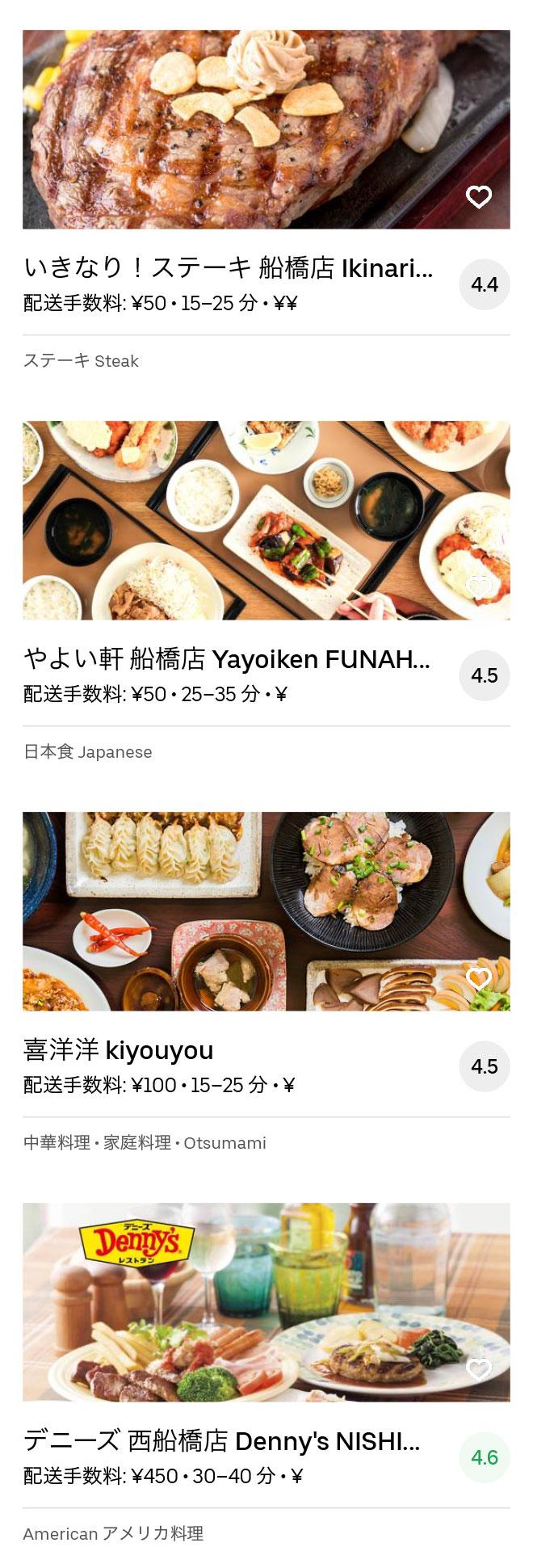 Funabashi menu 2004 08