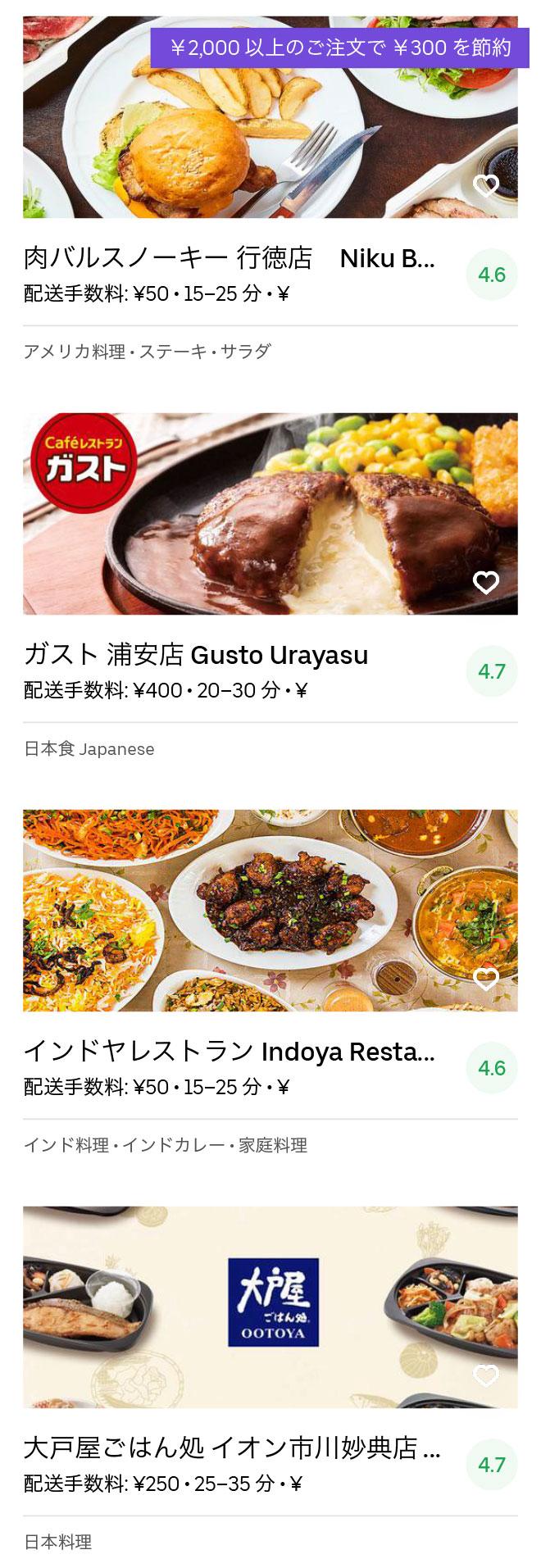 Ichikawa gyotoku menu 2004 05