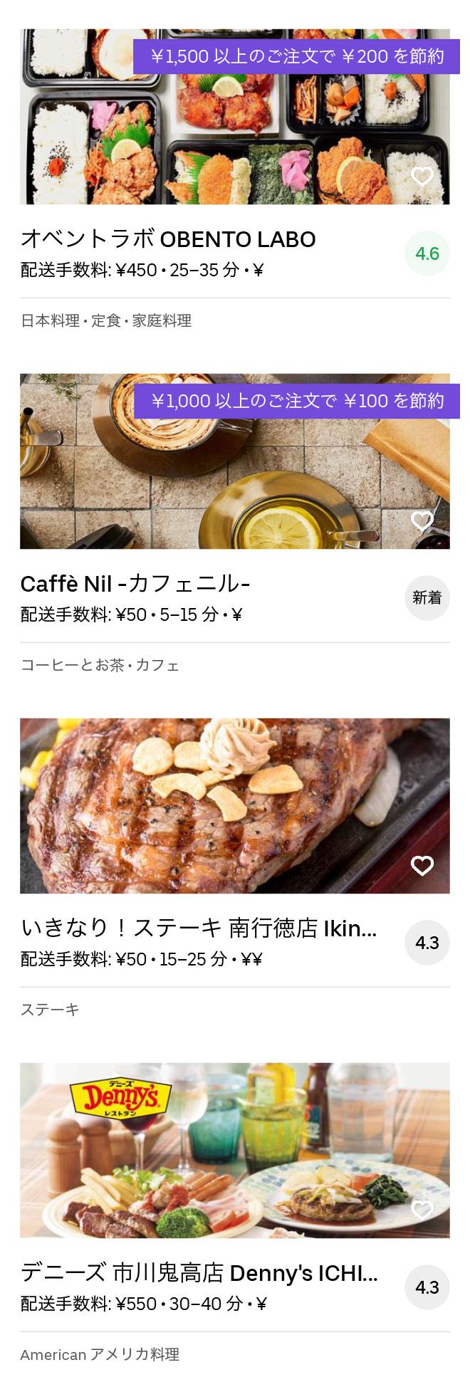 Ichikawa gyotoku menu 2004 08