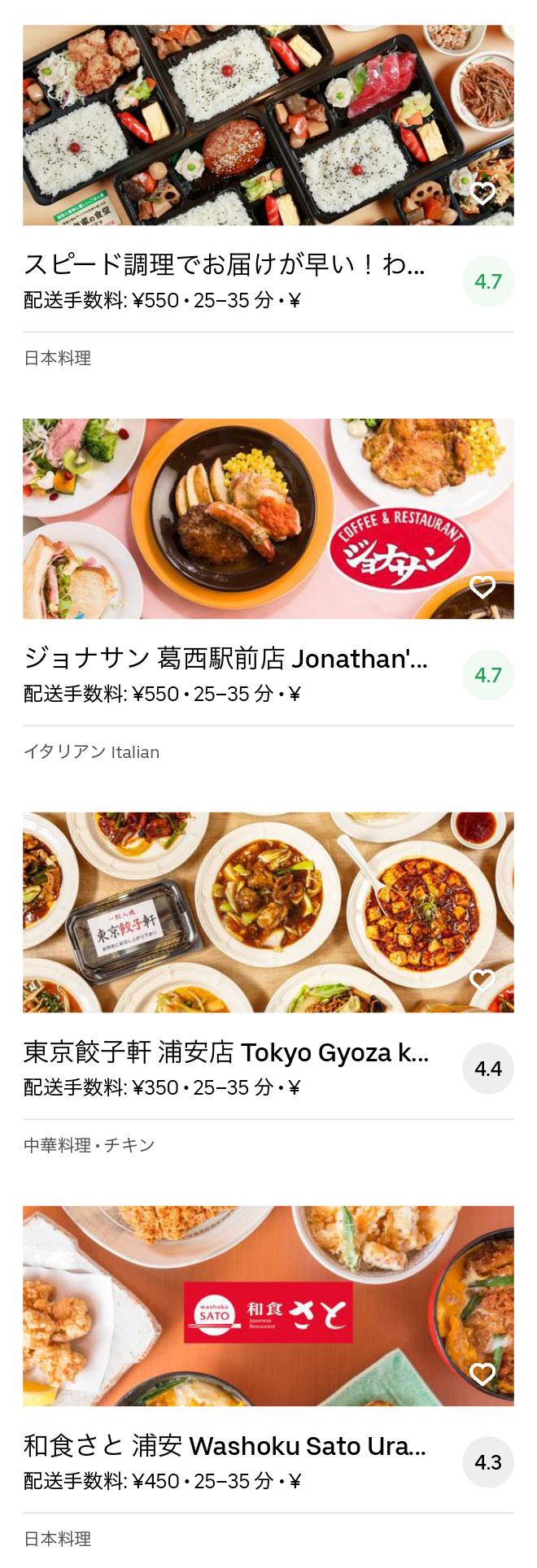 Ichikawa gyotoku menu 2004 11