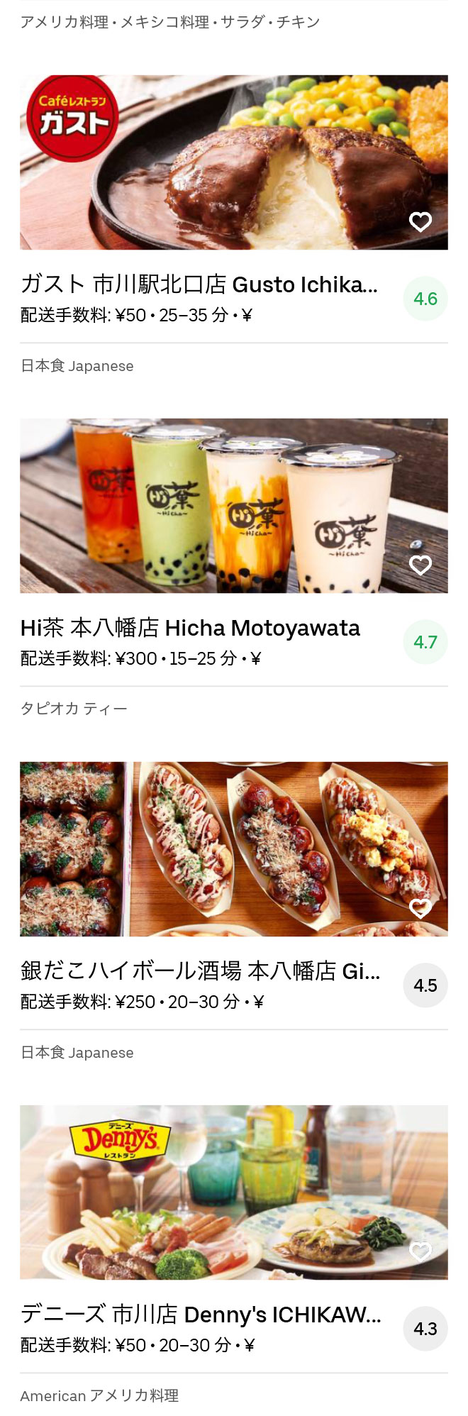 Ichikawa menu 2004 04