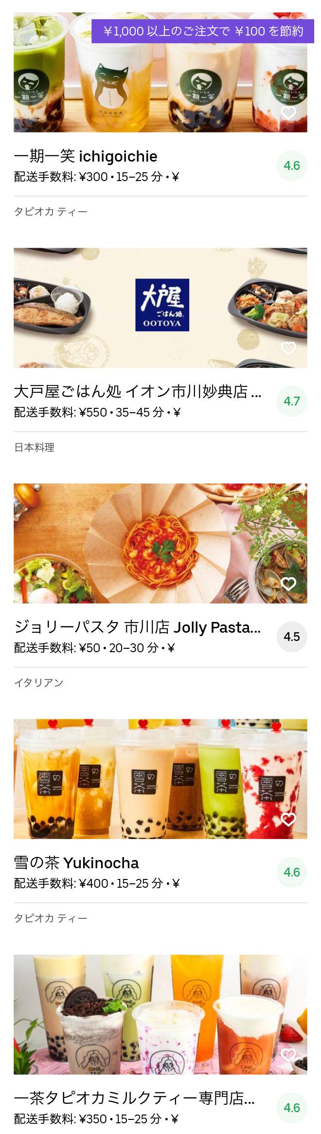 Ichikawa menu 2004 05