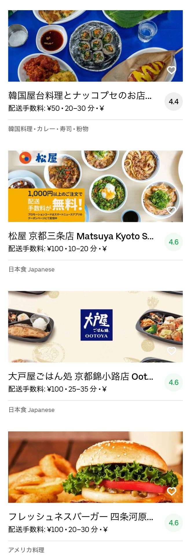 Kyoto karasuma menu 2005 08