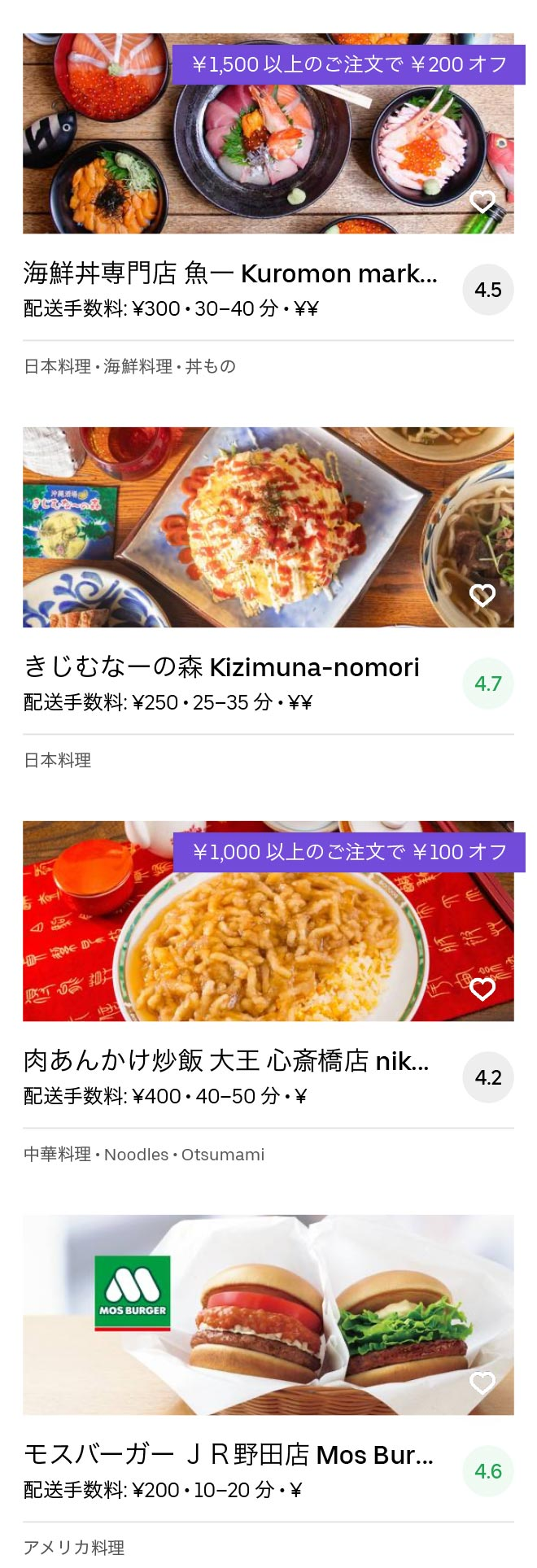Osaka nishi kujo menu 2005 08