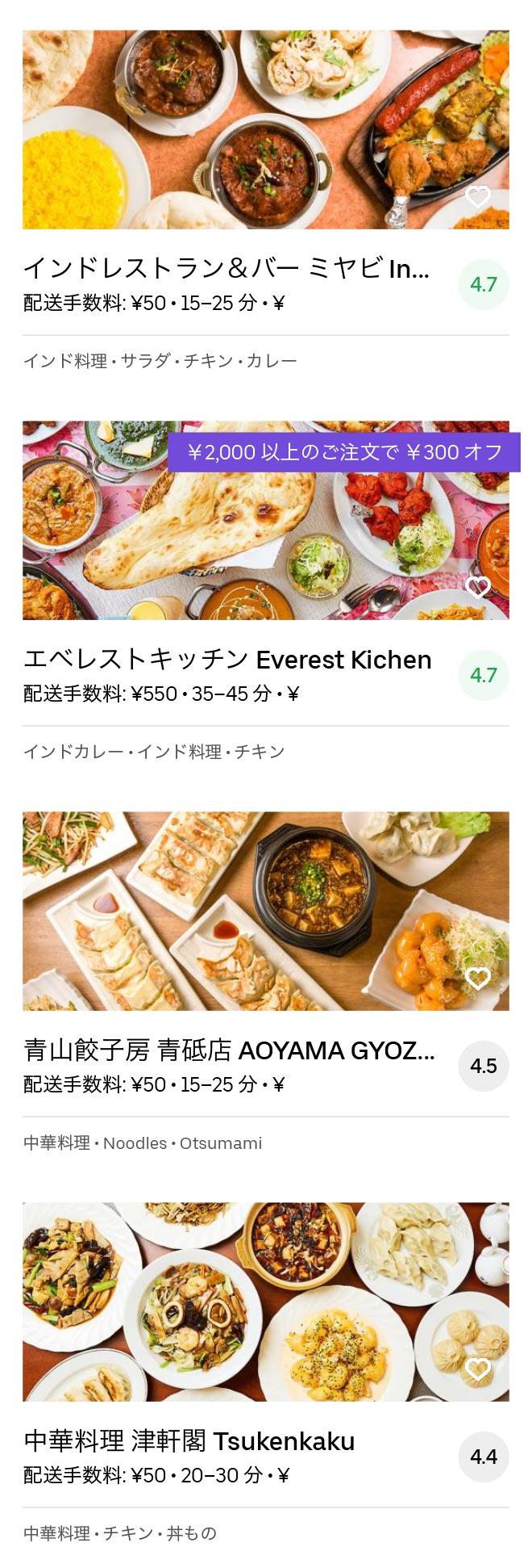 Tokyo aoto menu 2005 09
