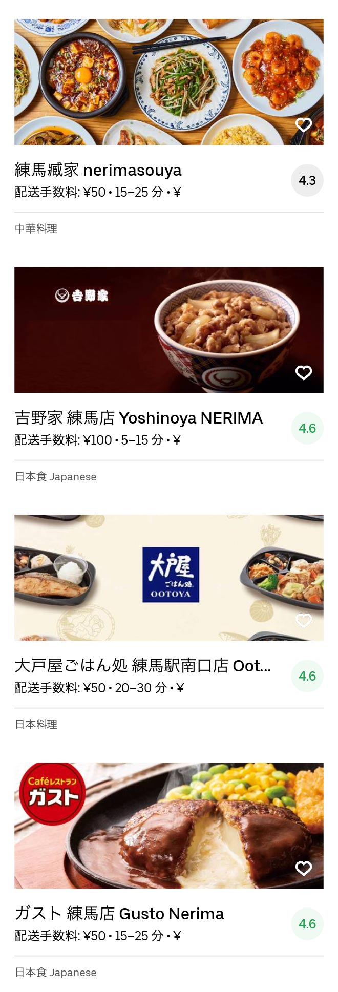 Tokyo nerima menu 2005 07