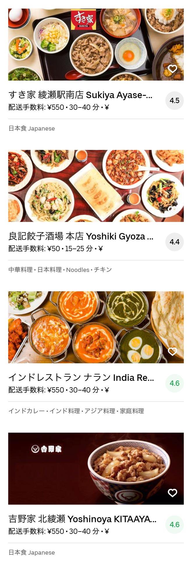 Tokyo takenotsuka menu 2005 06