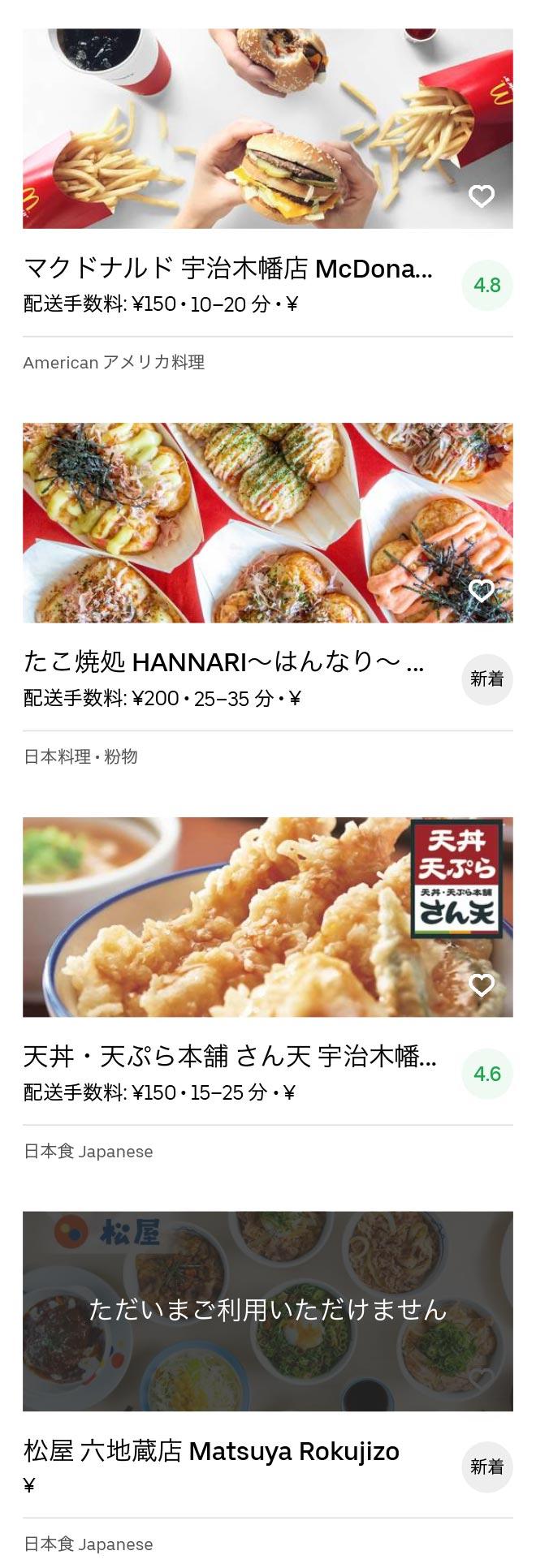 Uji rokujizo menu 2005 04