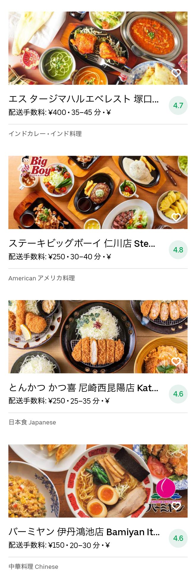 Itami sakuradai menu 2007 05
