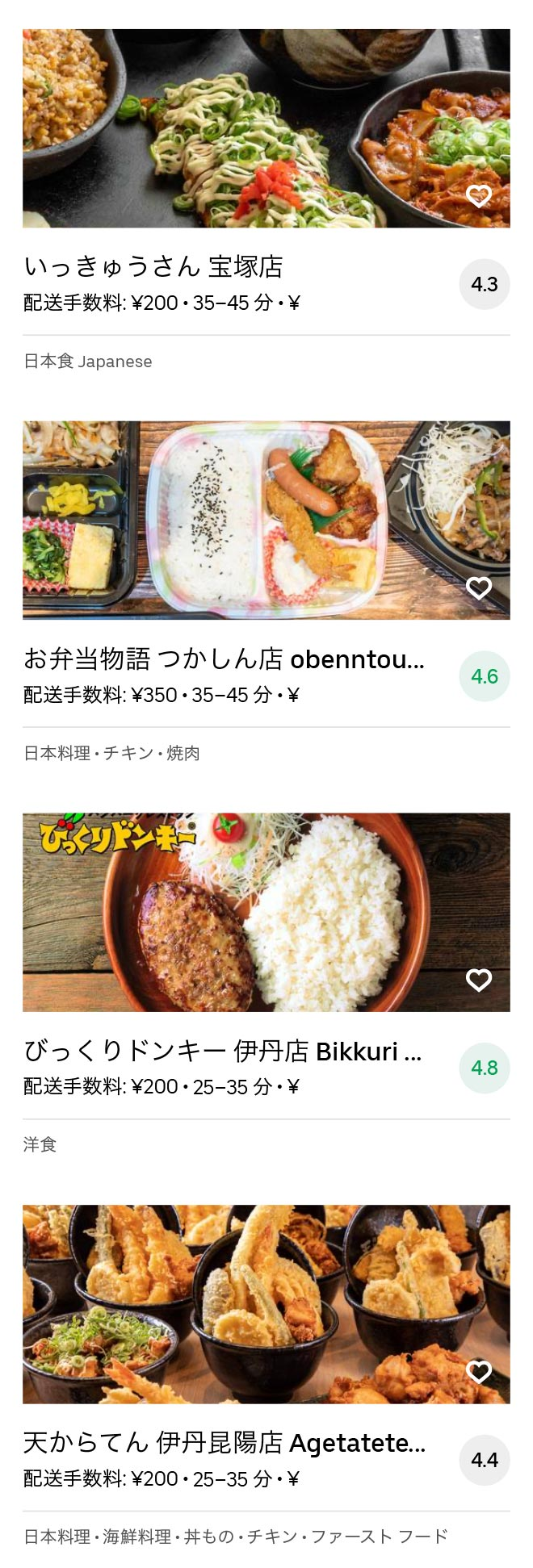 Itami sakuradai menu 2007 06