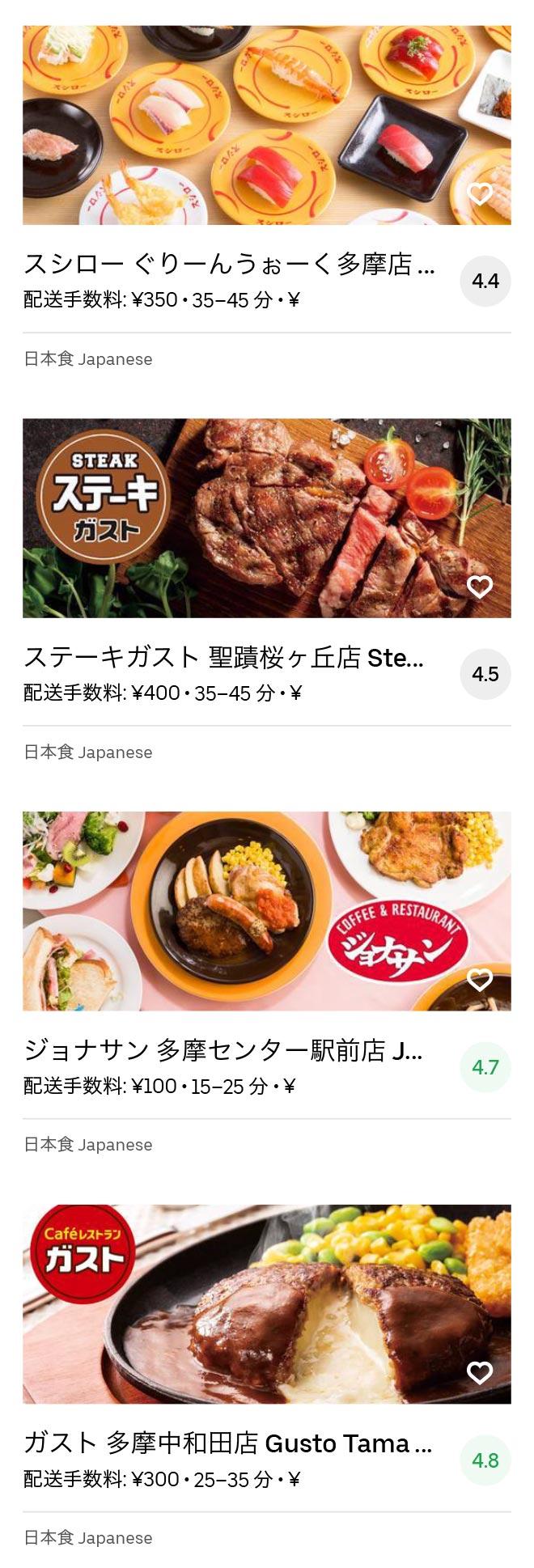 Tama center menu 2007 06