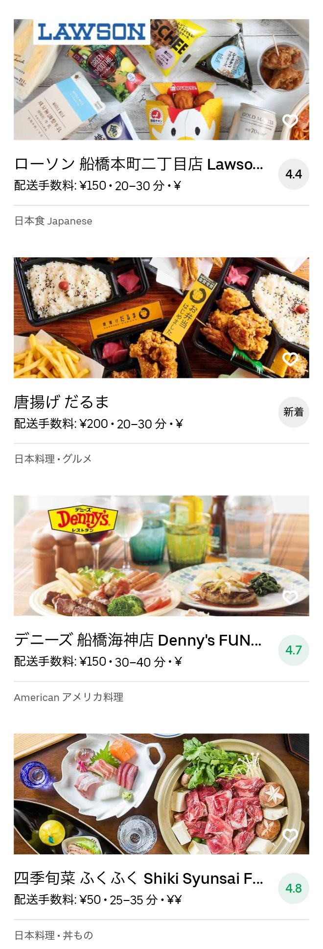Funabashi menu 2008 10