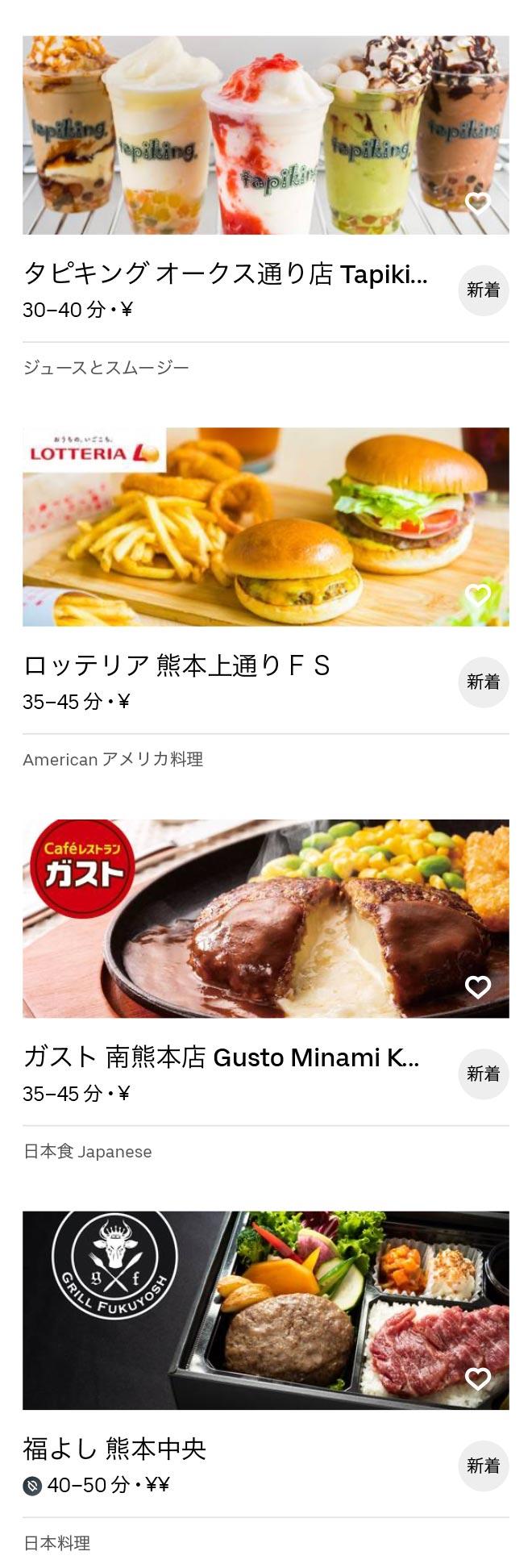 Kumamoto menu 2008 03