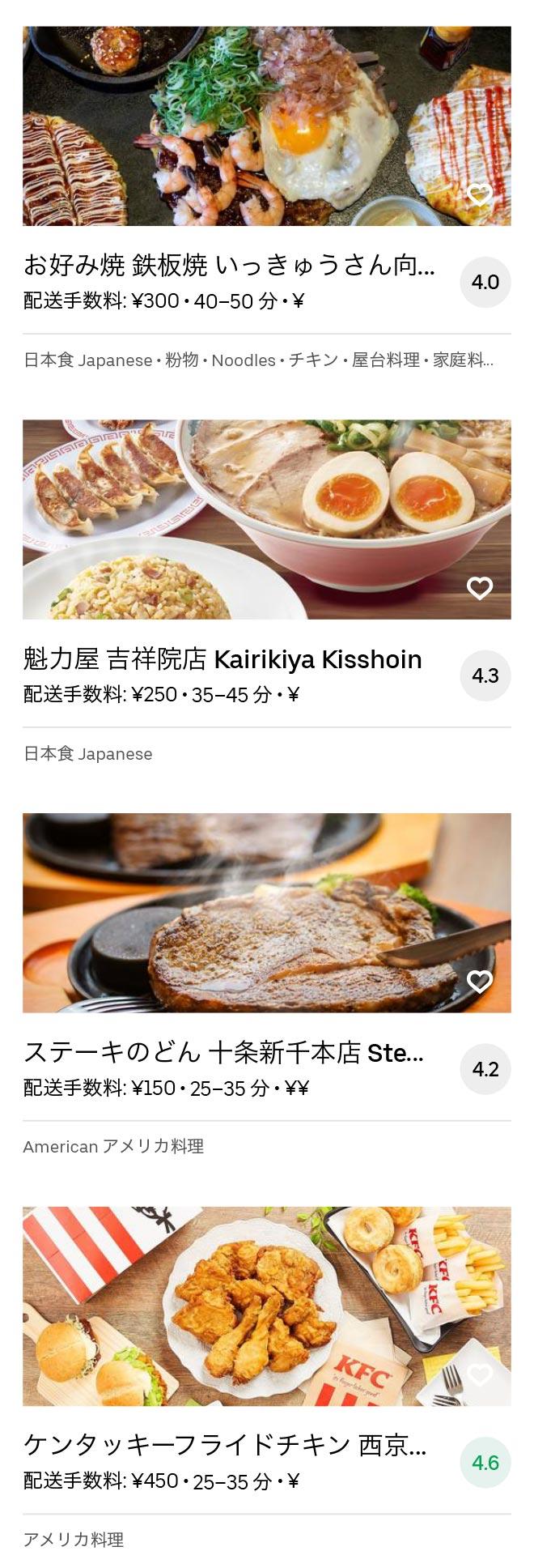 Mukoumachi menu 2008 09