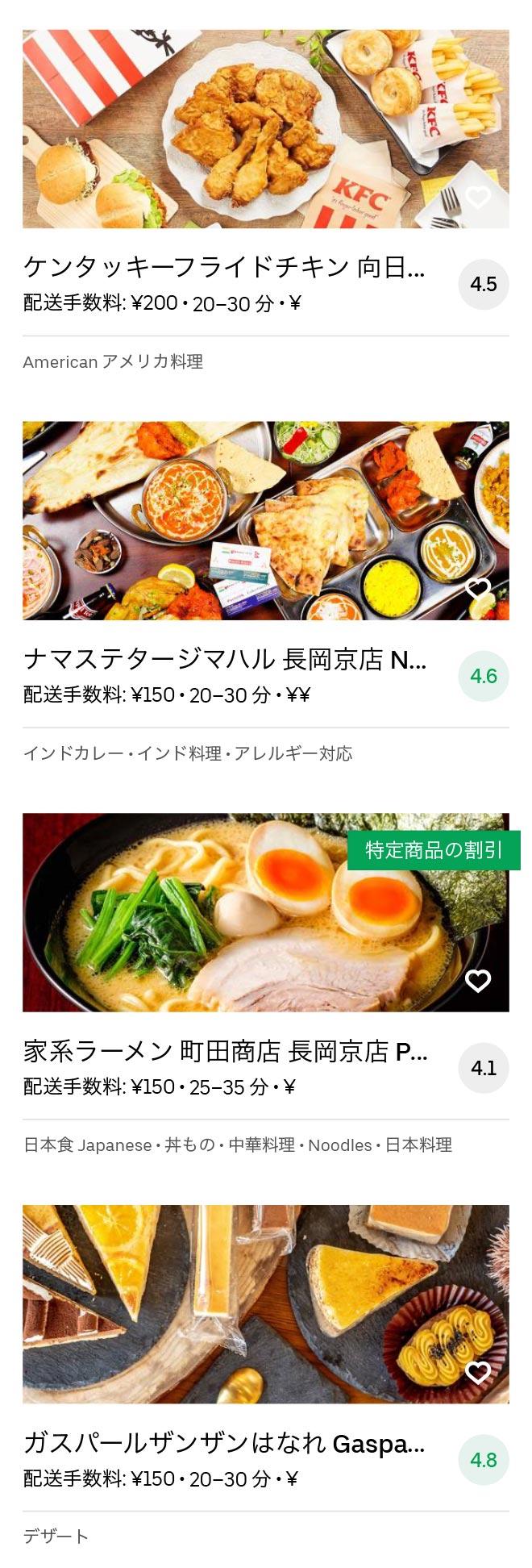 Nagaokakyo menu 2008 07