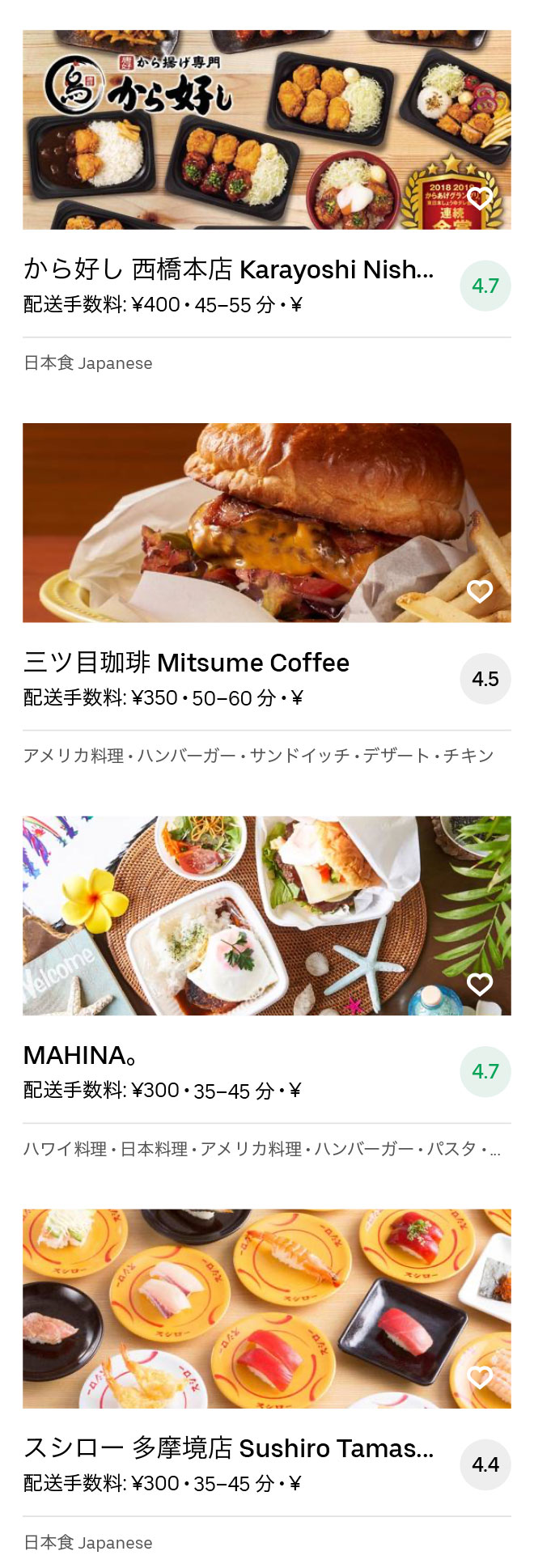 Sagamihara menu 2008 09