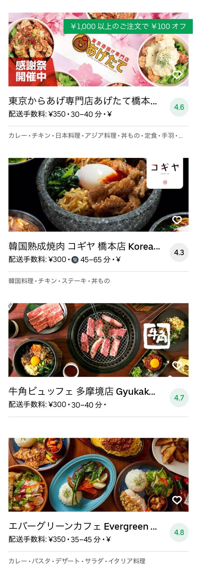 Sagamihara menu 2008 10