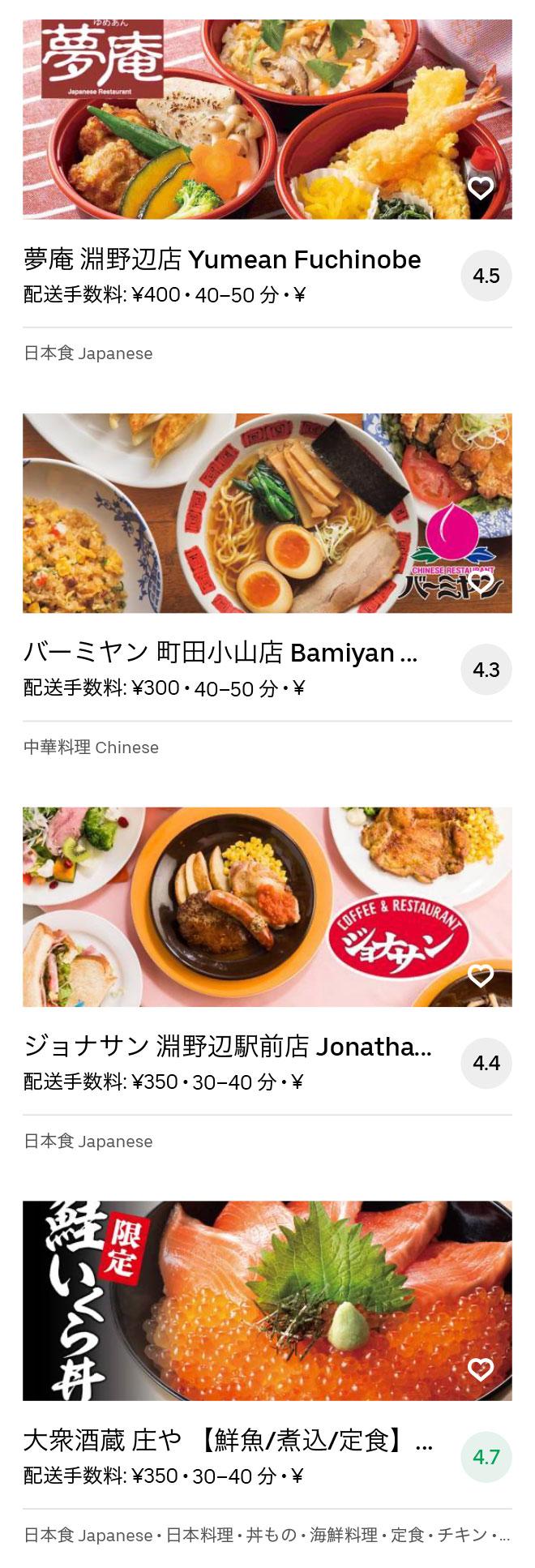 Sagamihara menu 2008 11
