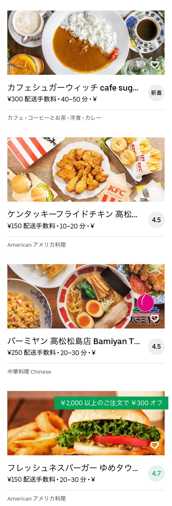Chuoh sho menu 2008 09