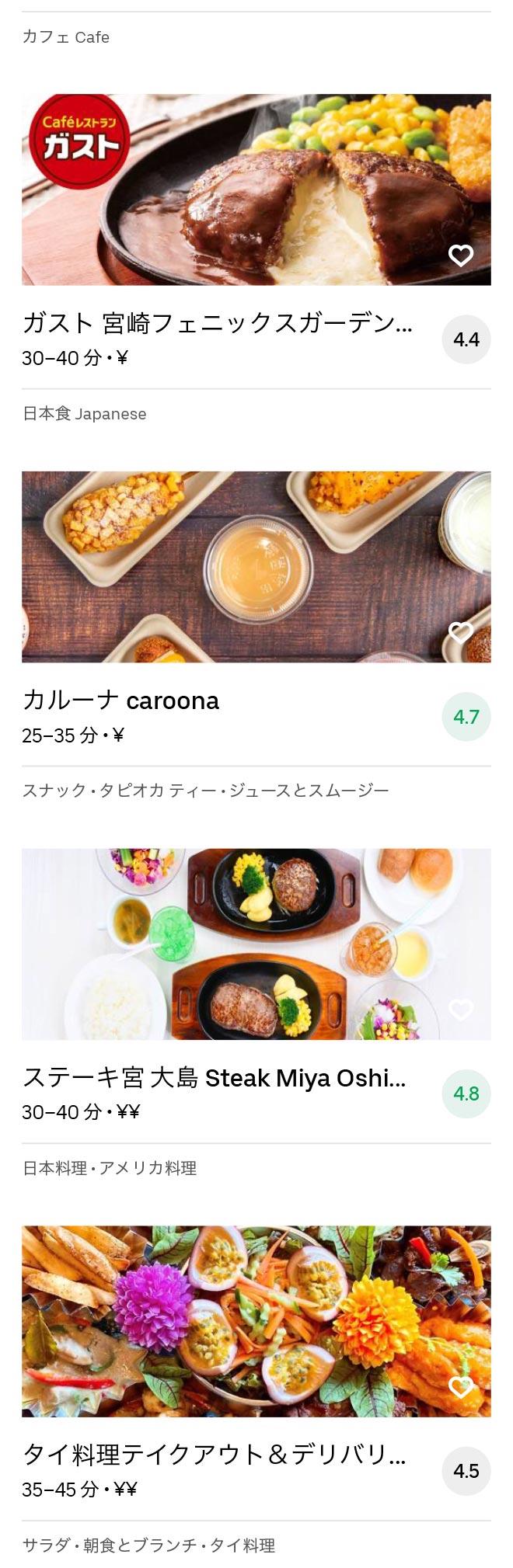Miyazaki menu 2009 3