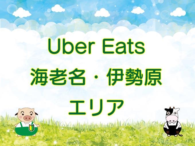 Uber Eats(ウーバーイーツ)伊勢原・海老名エリアのキャッチ画像