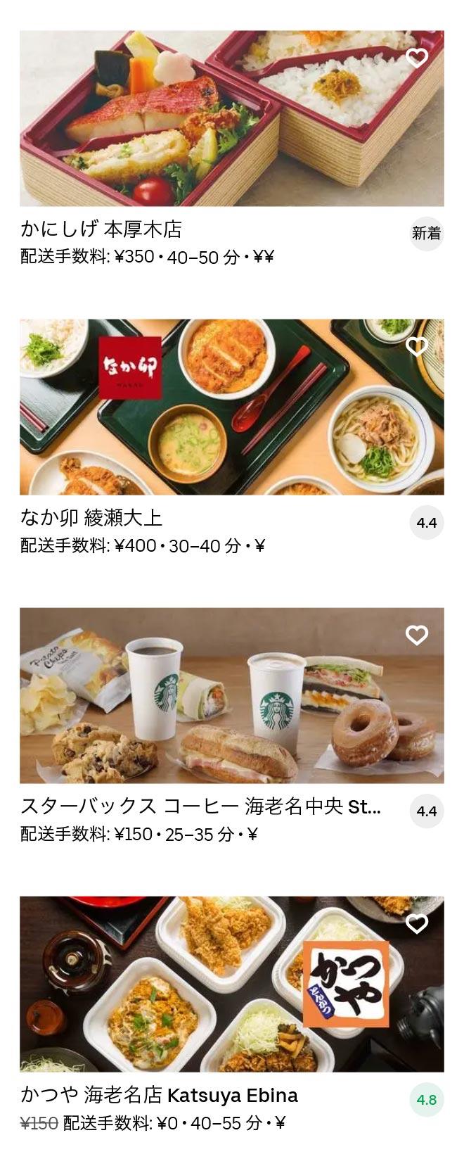 Ebina menu 2010 11
