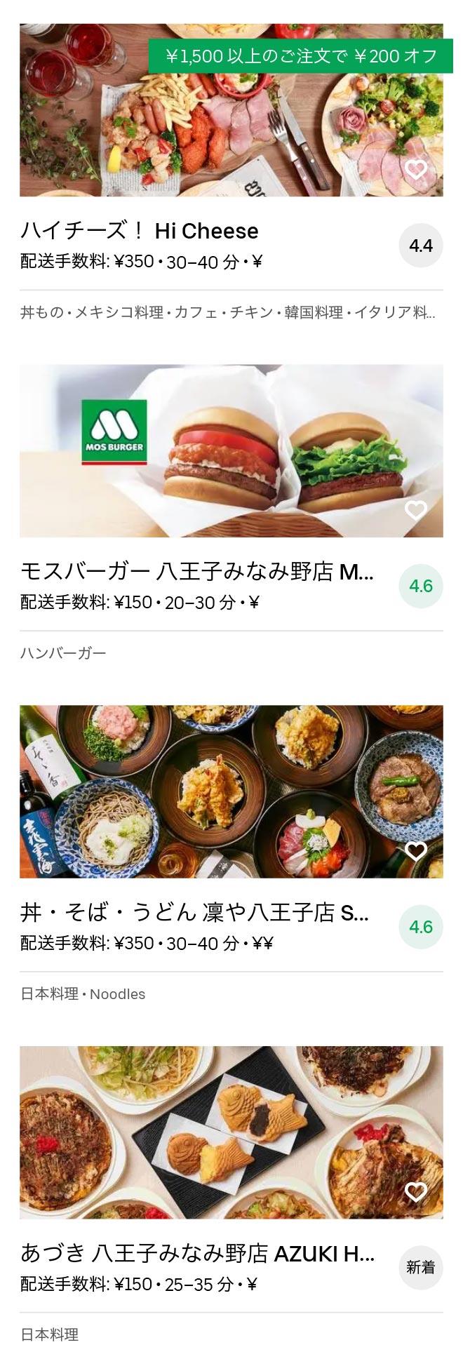 Hatioji minamino menu 2010 10