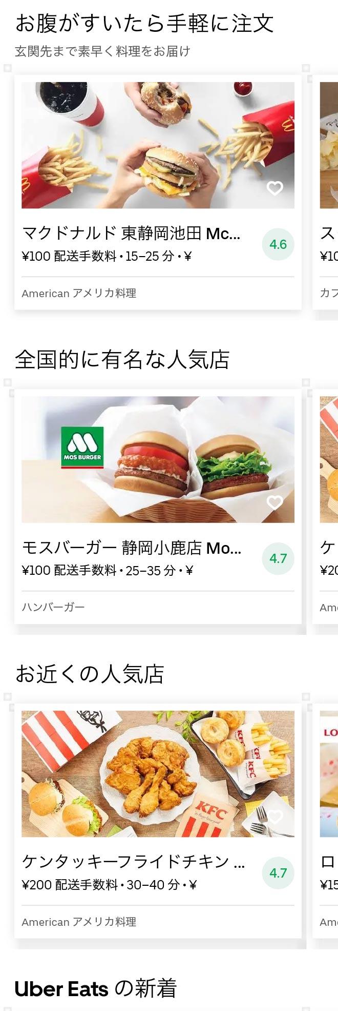 Higashi shizuoka menu 2010 01