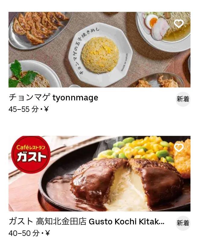 Kouchi menu 2010 04