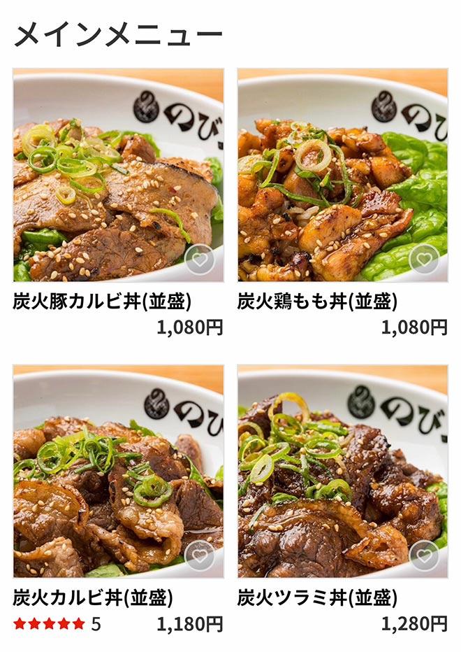 Nanba menu m1014