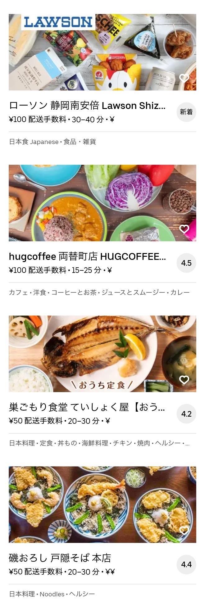 Shizuoka menu 2010 08