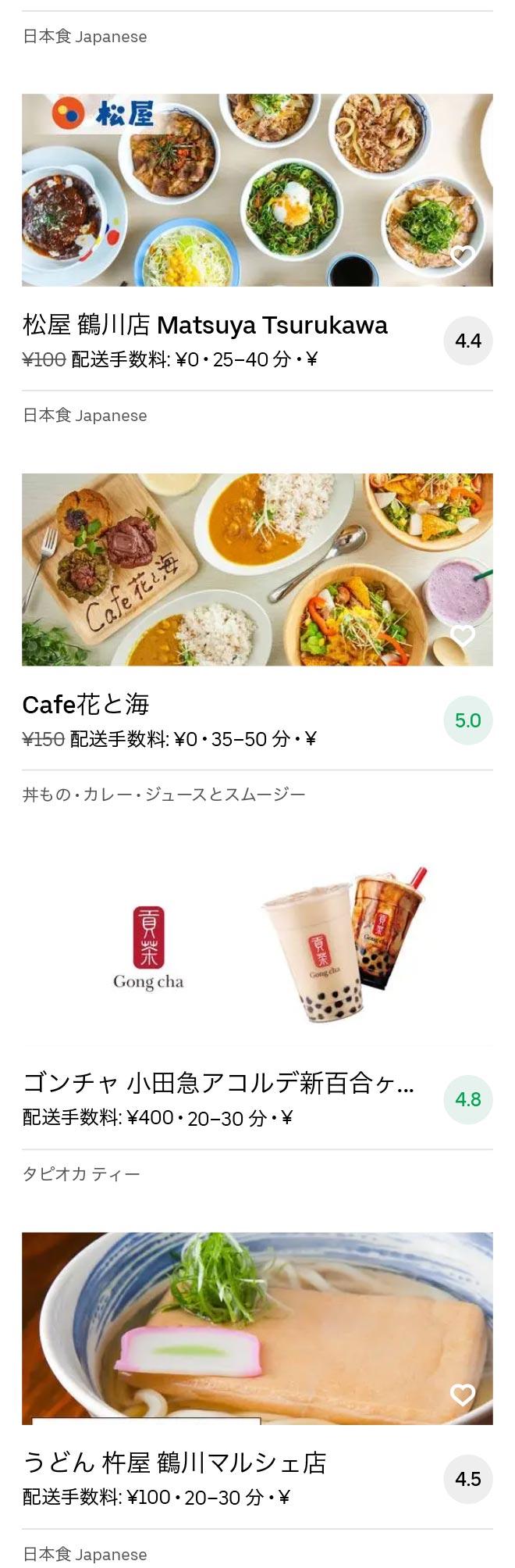 Tsurukawa menu 2010 04