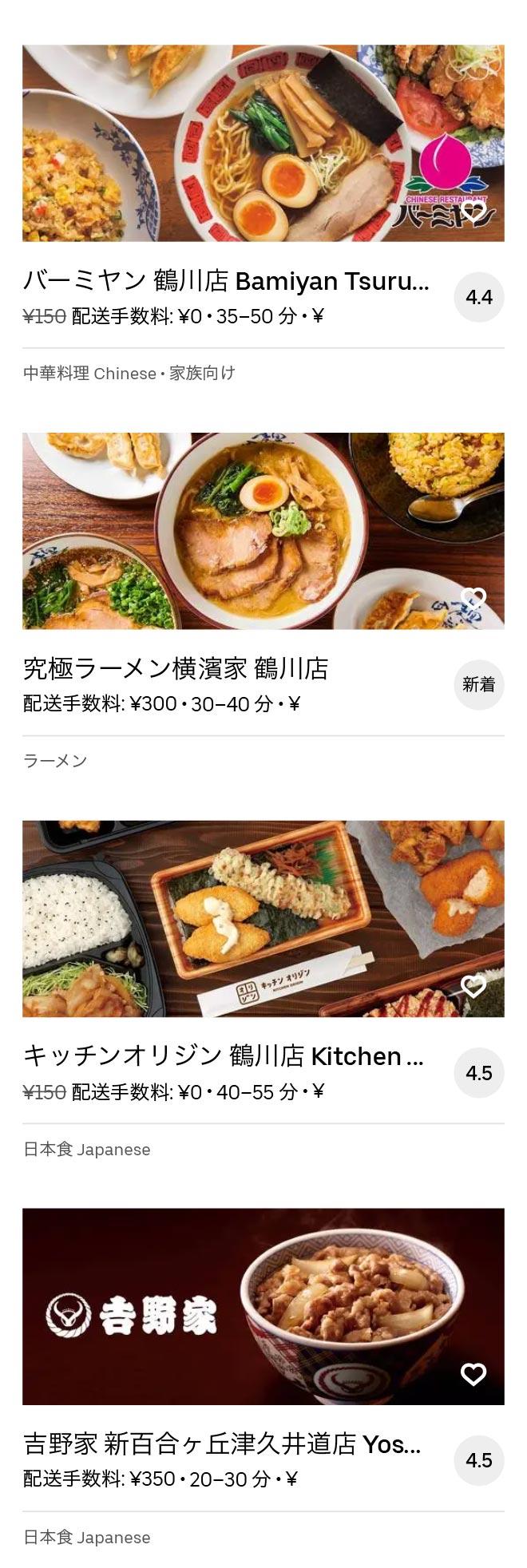 Tsurukawa menu 2010 05