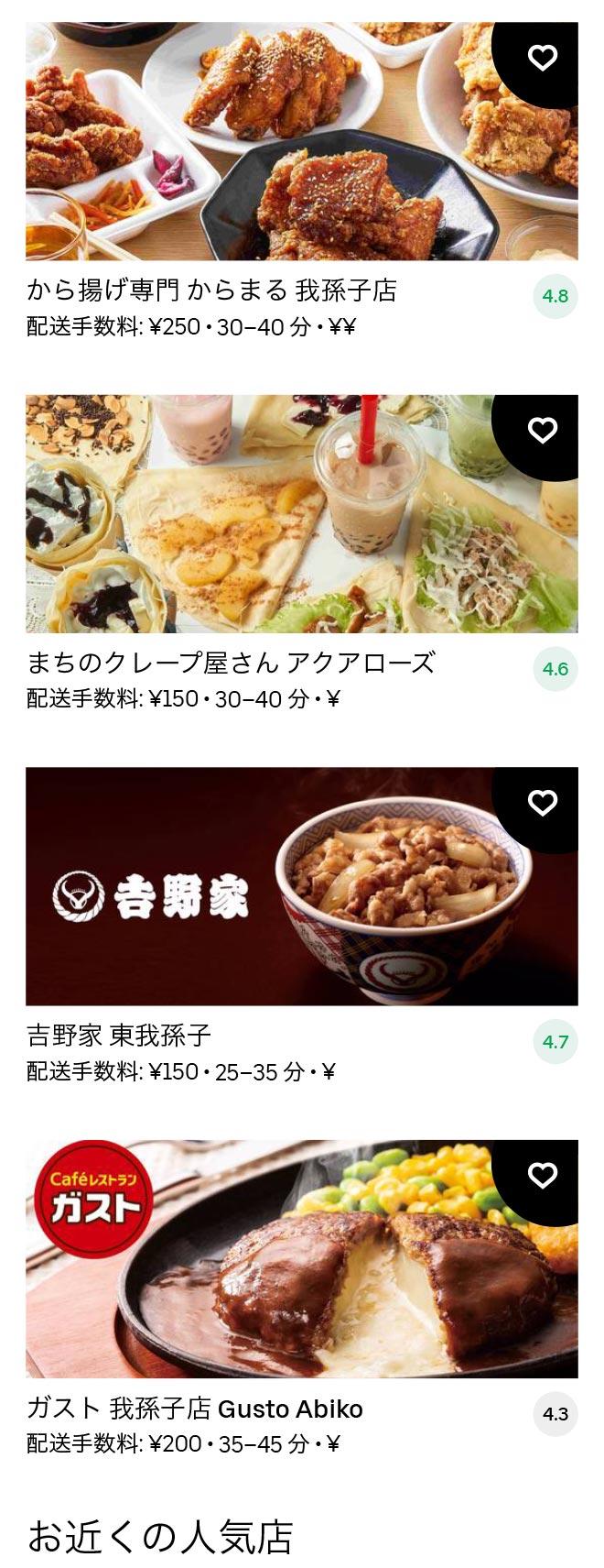 Higashi abiko menu 2011 01