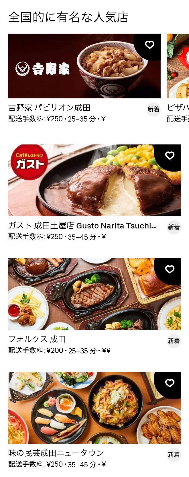 Narita menu 2011 2