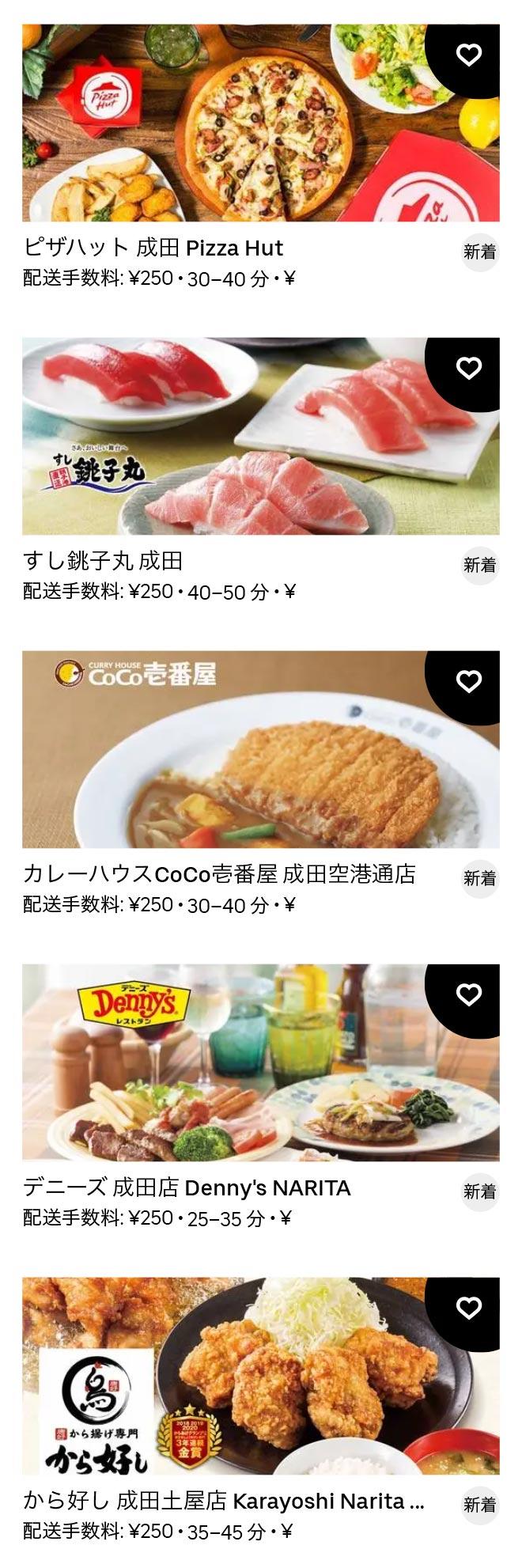 Narita menu 2011 3