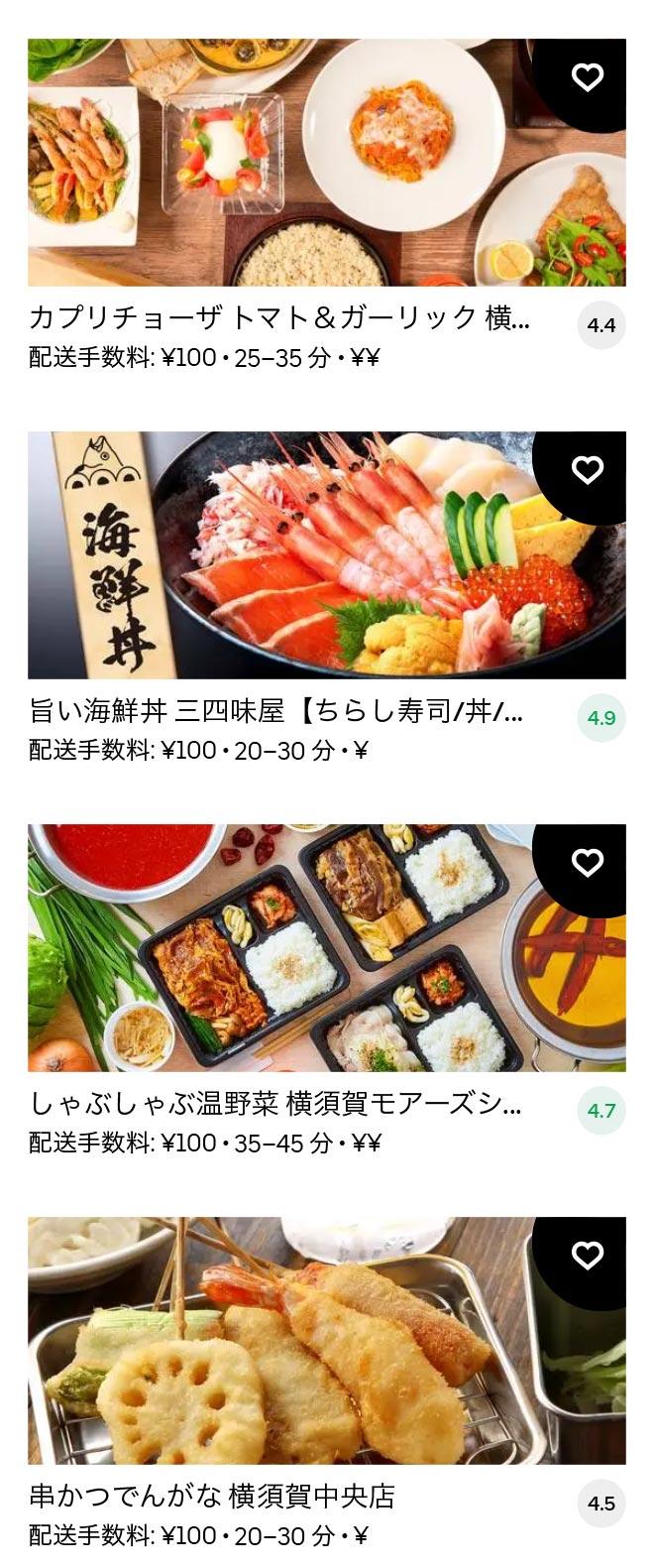 Yokosuka chuo menu 2011 10