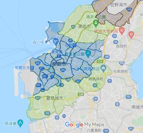 DiDiフード(ディディフード)沖縄エリア・最新配達マップ